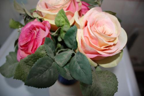 bouquet fleurs artificelles sale